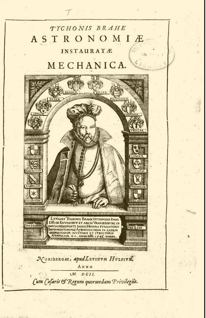 Astronomi instaurat mechanica for Tycho brahe mural quadrant